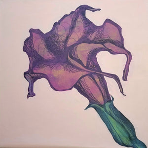Purple Bloom Painting