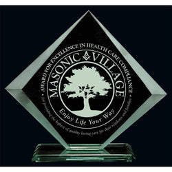Acadian Jade Glass Award-D&G Trophies Inc.-D and G Trophies Inc.
