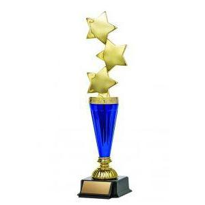 "Astral Series Triple Star on Base 11.5"", Gold-D&G Trophies Inc.-D and G Trophies Inc."