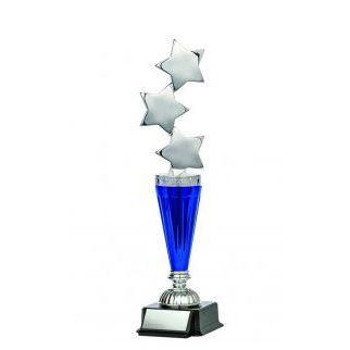 "Astral Series Triple Star on Base 11.5"", Silver-D&G Trophies Inc.-D and G Trophies Inc."