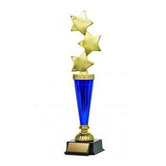 Astral Series Triple Star on Base, Gold-D&G Trophies Inc.-D and G Trophies Inc.