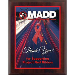 awareness ribbon plaque laminate plaque-D&G Trophies Inc.-D and G Trophies Inc.