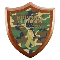 Awareness Ribbon Sheild Laminate plaque-D&G Trophies Inc.-D and G Trophies Inc.