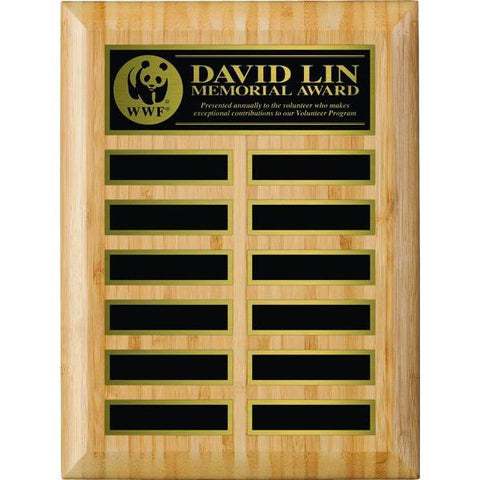 Bamboo Annual Plaque-D&G Trophies Inc.-D and G Trophies Inc.