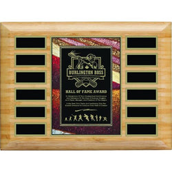 Bamboo Art Plate Annual Plaque-D&G Trophies Inc.-D and G Trophies Inc.