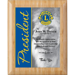 bamboo rolled edge sublimated hardwood plaque-D&G Trophies Inc.-D and G Trophies Inc.