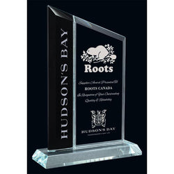 Berkshire Black & Clear Glass Award-D&G Trophies Inc.-D and G Trophies Inc.