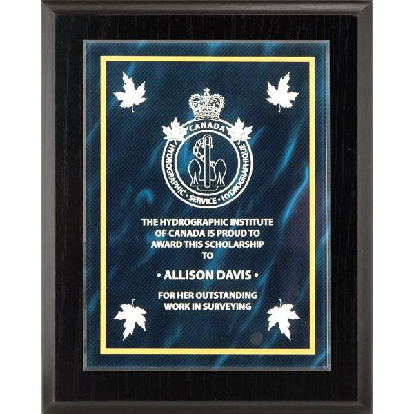 Blue Austin Acrylic Plate-D&G Trophies Inc.-D and G Trophies Inc.