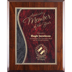 Blue Wave Marble Mist High Gloss Plaque-D&G Trophies Inc.-D and G Trophies Inc.