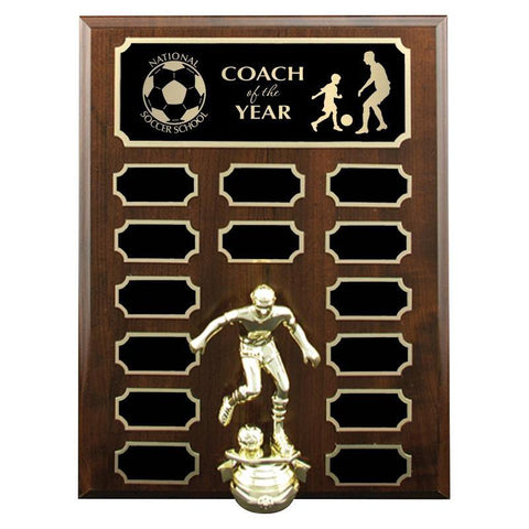 cherrywood annual plaque laminate-D&G Trophies Inc.-D and G Trophies Inc.