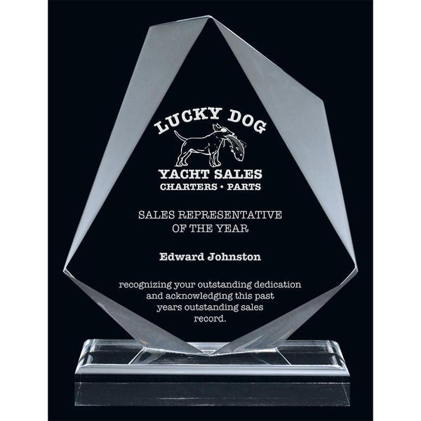 Clear Aberdeen Acrylic Award-D&G Trophies Inc.-D and G Trophies Inc.