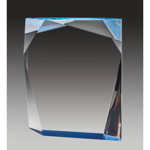 Clear Acrylic Angled Edge Block, Foil Edge-D&G Trophies Inc.-D and G Trophies Inc.