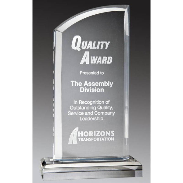 Clear Acrylic Peak w Curved Top-D&G Trophies Inc.-D and G Trophies Inc.