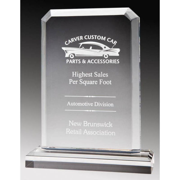 Clear Acrylic Rectangle Plate-D&G Trophies Inc.-D and G Trophies Inc.