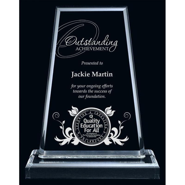 Clear Montrose Acrylic Award-D&G Trophies Inc.-D and G Trophies Inc.