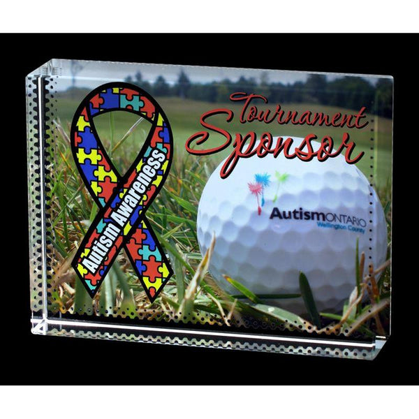 Crystal Block Sublimated Frame-D&G Trophies Inc.-D and G Trophies Inc.