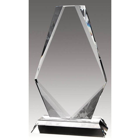 Crystal Diamond on Base, Clear-D&G Trophies Inc.-D and G Trophies Inc.