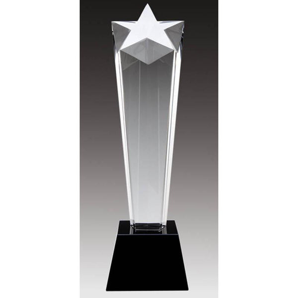 Crystal Narrow Star, Black Base-D&G Trophies Inc.-D and G Trophies Inc.