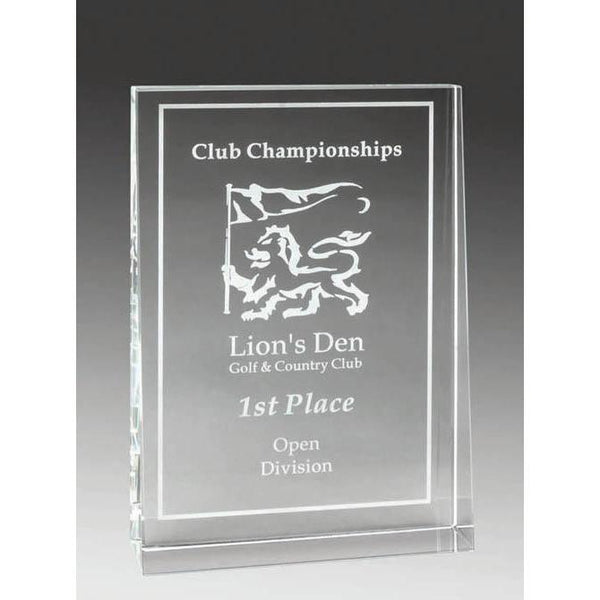Crystal Wedge-D&G Trophies Inc.-D and G Trophies Inc.