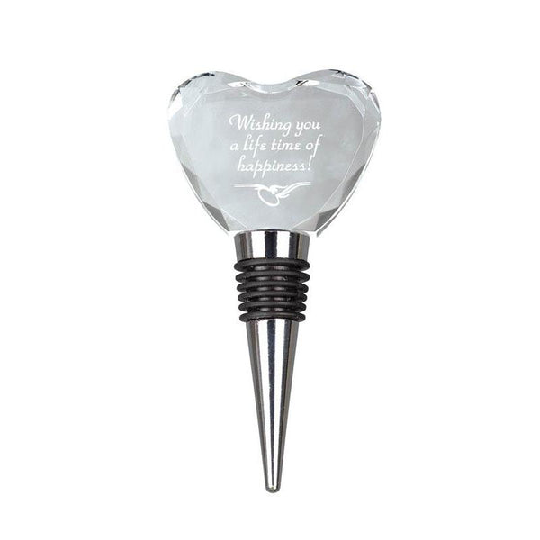 Crystal Wine Stopper, Heart-D&G Trophies Inc.-D and G Trophies Inc.