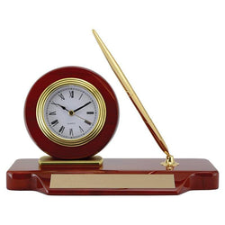 deluxe clock / desk set giftware-D&G Trophies Inc.-D and G Trophies Inc.