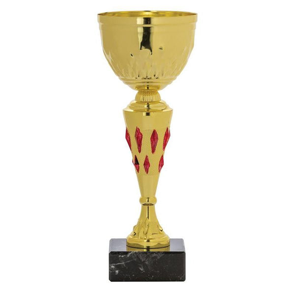 "Economy Cup, Gold Accent 9.5""-D&G Trophies Inc.-D and G Trophies Inc."