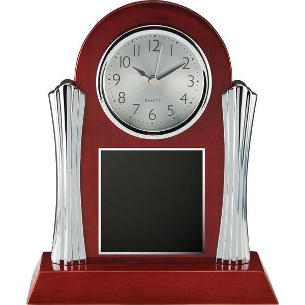 elgin rosewood clock giftware-D&G Trophies Inc.-D and G Trophies Inc.