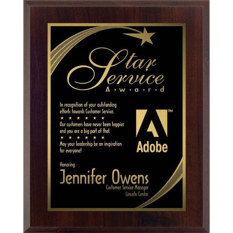 engraved two-tone laminate plaque-D&G Trophies Inc.-D and G Trophies Inc.
