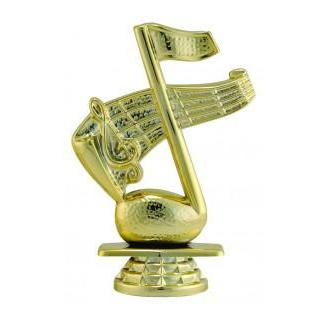 "Figure Music Note 4.25""-D&G Trophies Inc.-D and G Trophies Inc."