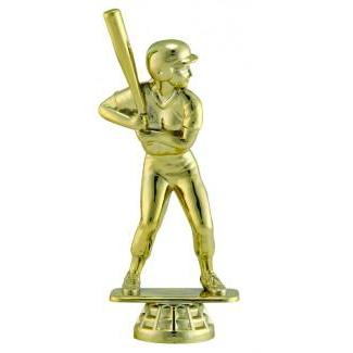 "Figure Softball Female, Gold 5""-D&G Trophies Inc.-D and G Trophies Inc."