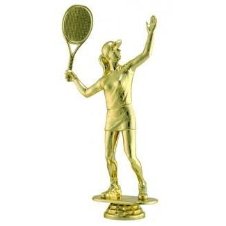 "Figure Tennis Female 6""-D&G Trophies Inc.-D and G Trophies Inc."
