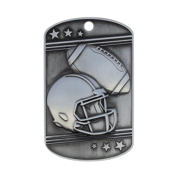 Football Dog Tag with Ball Chain-D&G Trophies Inc.-D and G Trophies Inc.