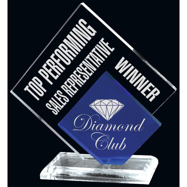 Freeform Double Diamond Acrylic Award-D&G Trophies Inc.-D and G Trophies Inc.