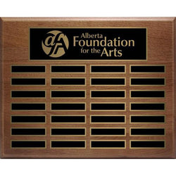 Genuine Walnut Annual Plaque Hardwood Annual-D&G Trophies Inc.-D and G Trophies Inc.