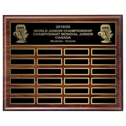 genuine walnut annual plaque hardwood annual plaque-D&G Trophies Inc.-D and G Trophies Inc.