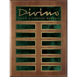 genuine walnut annual plaque-D&G Trophies Inc.-D and G Trophies Inc.