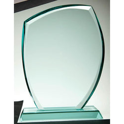 Glass Jade Curved Rectangle-D&G Trophies Inc.-D and G Trophies Inc.