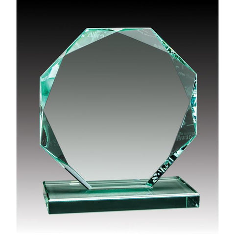 Glass Jade Octagon-D&G Trophies Inc.-D and G Trophies Inc.