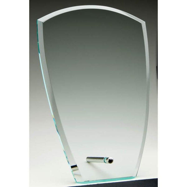 Glass Jade Shield Plaque w Pin-D&G Trophies Inc.-D and G Trophies Inc.