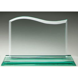 Glass Jade Wave-D&G Trophies Inc.-D and G Trophies Inc.