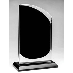Glass Rounded Peak, Clear/Onyx-D&G Trophies Inc.-D and G Trophies Inc.