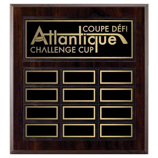 grooved laminate annual plaque cherrywood laminate-D&G Trophies Inc.-D and G Trophies Inc.