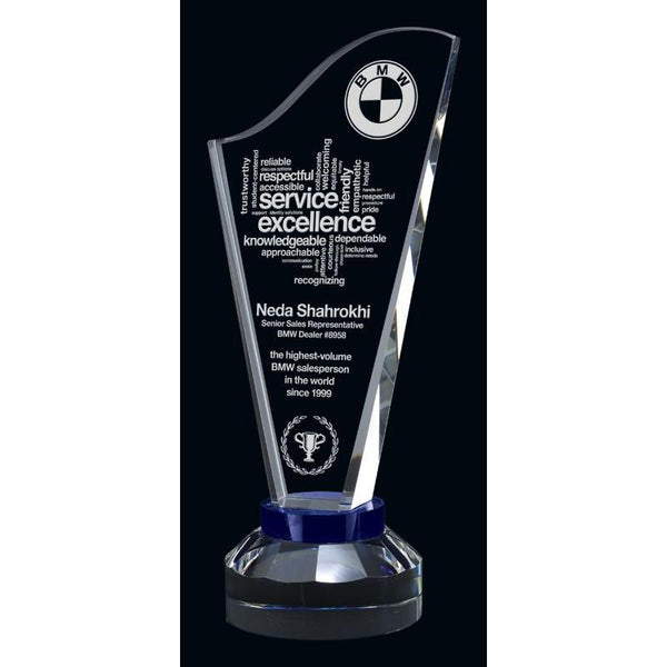 Harp Optic Crystal Award-D&G Trophies Inc.-D and G Trophies Inc.