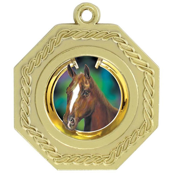 "hex medal bright 1"" insert medal-D&G Trophies Inc.-D and G Trophies Inc."