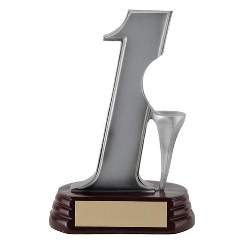 hole-in-one ball holder golf resin trophy