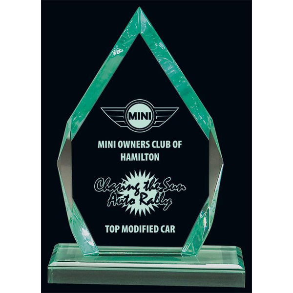 Jade Arrowhead Acrylic Award-D&G Trophies Inc.-D and G Trophies Inc.