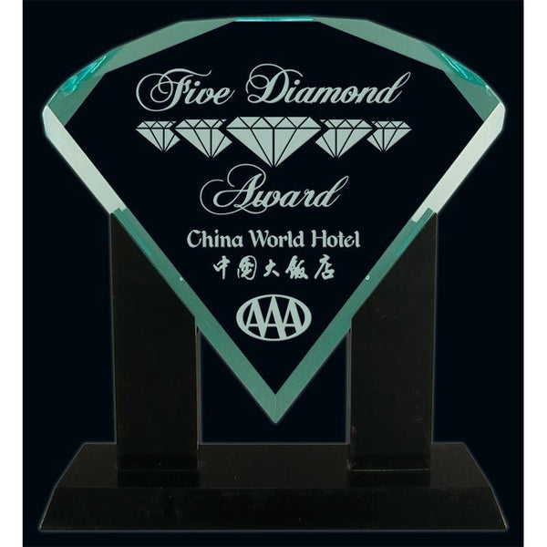 Jade Diamond Acrylic Award-D&G Trophies Inc.-D and G Trophies Inc.