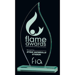 Jade Flame Acrylic Award-D&G Trophies Inc.-D and G Trophies Inc.