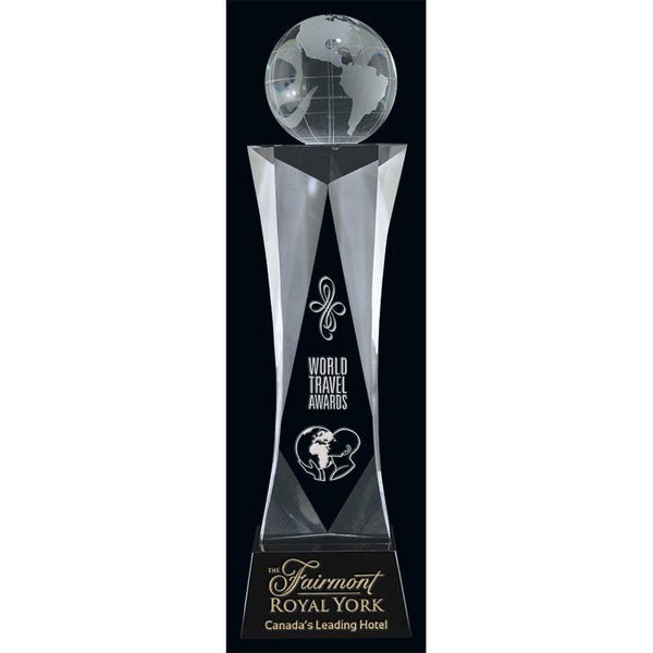 Journey Optic Crystal Globe Award-D&G Trophies Inc.-D and G Trophies Inc.