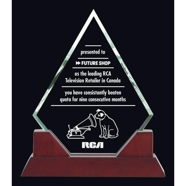Kingston, Piano Finish Glass Award-D&G Trophies Inc.-D and G Trophies Inc.